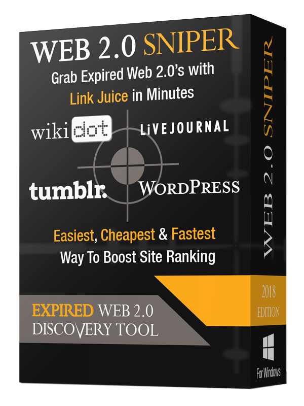Web 2.0 Sniper backlinks software